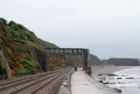 [The railway line between Dawlish and Dawlish Warren]