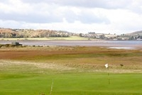 [A view across the golf course and nature reserve at Dawlish Warren]