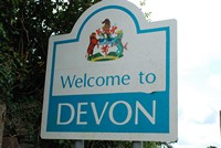 [Welcome to Devon sign]