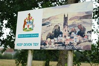 [Keep Devon tidy sign]