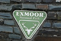 [Exmoor national park sign]